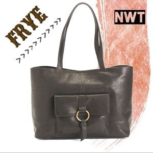 🆕 NWT FRYE Leather Madison Harness Ring Tote XL